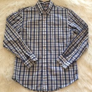Izod | Plaid Dress Shirt - Blue/White - Small